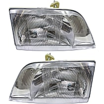 Driver and Passenger Side Halogen Headlight, Without bulb(s)