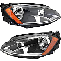 Driver and Passenger Side Halogen Headlight, With Bulb(s) - To 6-30-2014