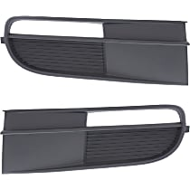 Fog Light Cover, w/o Chrome Molding, Driver and Passenger Side, For Models w/o Foglamps, Except R-Line