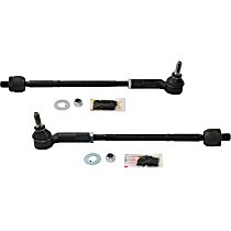 Tie Rod Assembly - Front, Driver and Passenger Side, Inner and Outer, Set of 2