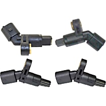 Front and Rear, Driver and Passenger Side ABS Speed Sensor - Set of 4