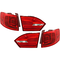 Driver and Passenger Side, Inner and Outer Tail Light, With bulb(s)