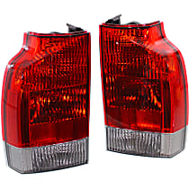 Driver and Passenger Side, Lower Tail Light, With bulb(s) - Clear Lens