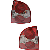Driver and Passenger Side Tail Light, With bulb(s) - New Body Style, (Except W8 Model), Sedan