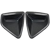 Front, Driver and Passenger Side Bumper Filler, Textured Black