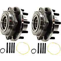 Wheel Hub and Bearing - Front, Driver and Passenger Side, Set of 2, 4WD, 4-Wheel ABS
