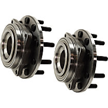 Wheel Hub and Bearing - Front, Driver and Passenger Side, Set of 2, RWD, 4-Wheel ABS