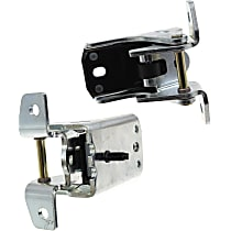Door Hinge - Front, Driver and Passenger Side, Lower, Chrome, Direct Fit, Set of 2