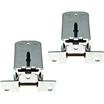 Replacement Door Hinge - SET-RF46420003-2 - Front, Driver and Passenger Side, Lower, Chrome, Direct Fit, Set of 2