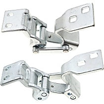 Door Hinge - Passenger Side, Upper and Lower - Back Door, Chrome, Direct Fit, Set of 2