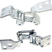 Door Hinge - Driver and Passenger Side, Lower - Back Door, Chrome, Direct Fit, Set of 2
