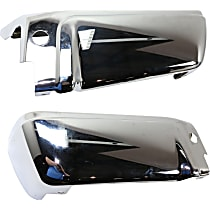 Step Bumper - Driver and Passenger Side, Chrome, Without mounting bracket(s)