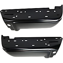 Step Bumper - Driver and Passenger Side, Powdercoated Black, Without mounting bracket(s)