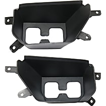 CAPA Certified Front, Driver and Passenger Side Bumper Filler, Black