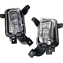 CAPA Certified Driver and Passenger Side Driving Light, With bulb(s)