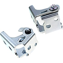 Door Hinge - Front Or Rear, Driver and Passenger Side, Upper, White, Direct Fit, Set of 2