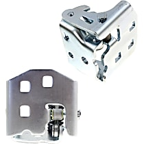 Door Hinge - Front Or Rear, Driver and Passenger Side, Lower, Chrome, Direct Fit, Set of 2