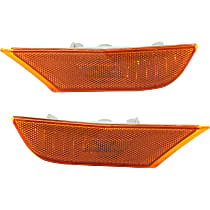 CAPA Certified Front, Driver and Passenger Side Side Marker, With bulb(s)