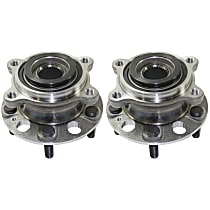Rear, Driver and Passenger Side Wheel Hub With Ball Bearing - Set of 2