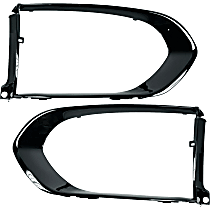 Driver and Passenger Side Grille Trim - Painted Black