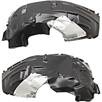 Fender Liner - Front, Driver and Passenger Side, Except Rubicon Model
