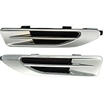 Replacement SET-RK22470001 Fender Vents - Chrome, Plastic, Direct Fit
