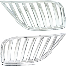 Grille Assembly - Chrome Shell and Insert, Driver and Passenger Side, Radiator Grille