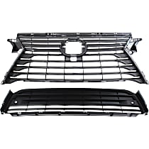 Grille Assembly - Dark Gray Shell and Insert, without F Sport Package, with Front View Camera, Canada/Japan Built Vehicle, with Front Bumper Grille