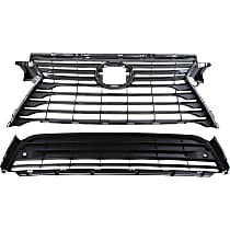 Grille Assembly - Dark Gray Shell and Insert, without F Sport Package, without Front View Camera, with Front Bumper Grille