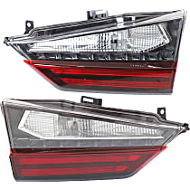 Driver and Passenger Side, Inner Tail Light, With bulb(s) - Clear & Red Lens, Standard, Canada/Japan Built