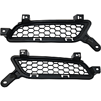 Grille Assembly - Textured Black Shell and Insert, Driver and Passenger Side, Except Evolution Model
