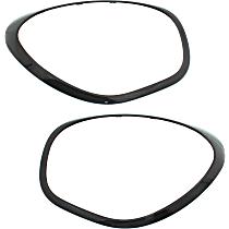 Replacement SET-RM11190003 Headlight Bezel - Black, Set of 2