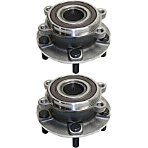 Front Wheel Bearing and Hub Assembly, Driver and Passenger Side