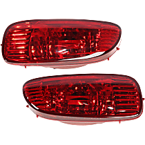 Rear, Driver and Passenger Side Fog Light, With bulb(s)