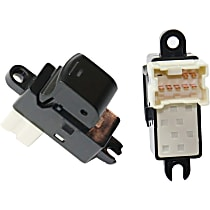 Window Switch - Rear, Driver and Passenger Side, Black, Set of 2