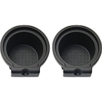 Replacement SET-RN50910012-2 Cup Holder - Black, Plastic, Direct Fit, Set of 2