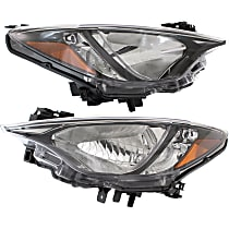 Driver and Passenger Side Headlights, Without bulb(s) - (Base/L/LE/Premium Model), Sedan, CAPA CERTIFIED