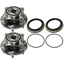 Front, Driver and Passenger Side Wheel Hub and Bearing Assembly For 4WD/4x4