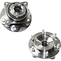 Front, Driver and Passenger Side Wheel Hub and Bearing Assembly For RWD