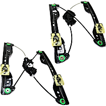 Front, Driver and Passenger Side Power Window Regulator, Without Motor