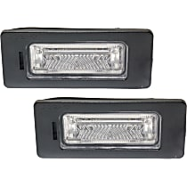 License Plate Light - Direct Fit, Set of 2 Rear, Driver and Passenger Side