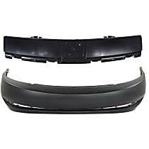 Front, Upper and Lower Bumper Cover, Primed - Sedan