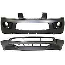 Front, Upper and Lower Bumper Cover, Primed top; Textured Bottom