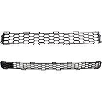 Upper and Lower Bumper Grille, Textured Black