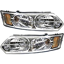 Driver and Passenger Side Headlight, With bulb(s), Sedan