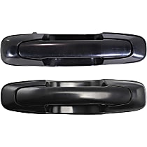 Front or Rear, Driver and Passenger Side Exterior Door Handle, Smooth Black