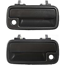 Front, Driver and Passenger Side Exterior Door Handle, Black - 4-Door Models