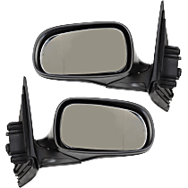 Mirror - Driver and Passenger Side (Pair), Power, Heated, Power Folding, Paintable, For Sedan or Wagon
