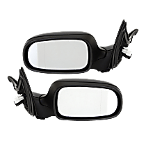 Mirror - Driver and Passenger Side (Pair), Power, Heated, Paintable, With Memory, For Sedan or Wagon