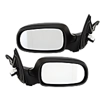 Kool Vue Power Mirror, Driver and Passenger Side, Manual Folding, Heated, w/ Memory, w/o Auto Dimmer, Paintable